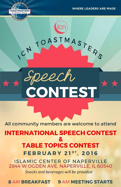 feb 21st icn toastmasters speech contest � islamic center