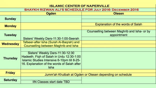 Sk Rizwan Schedule