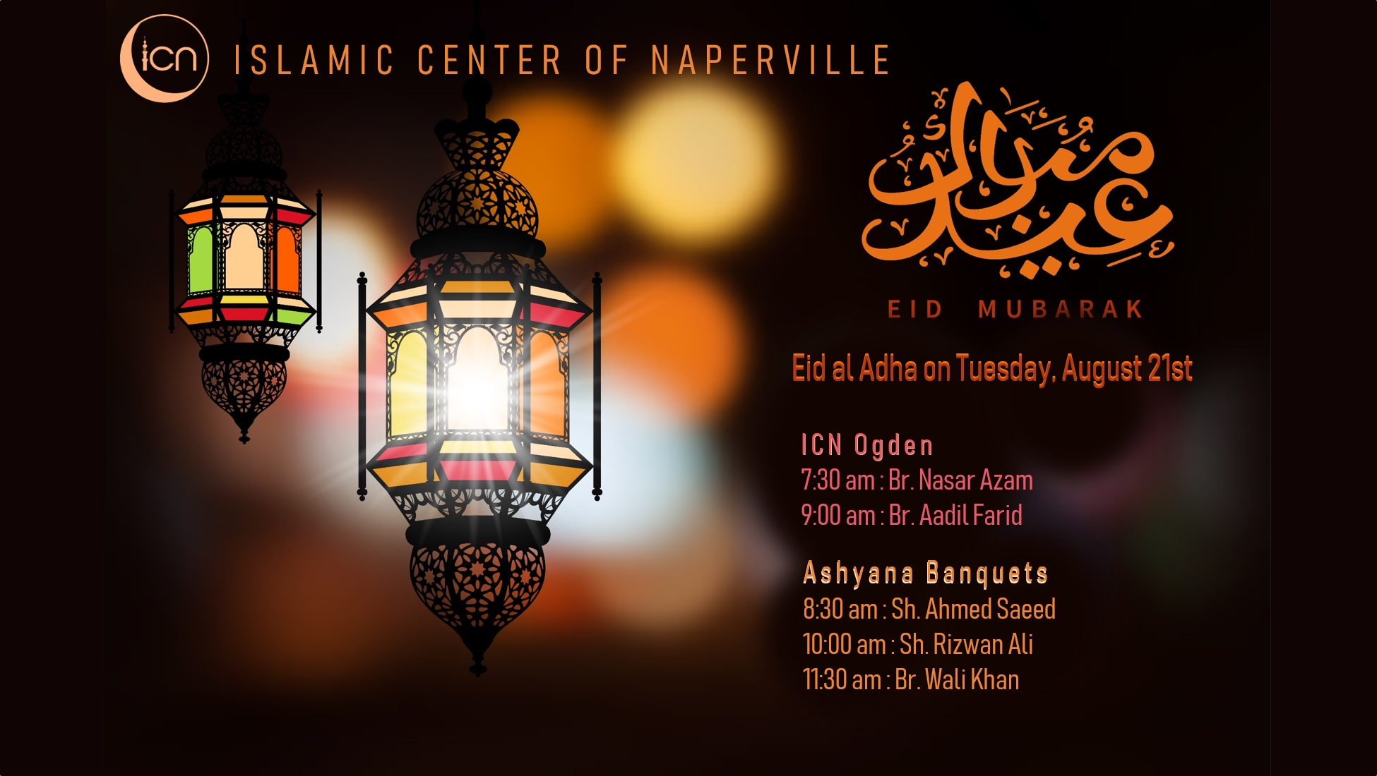 Eid Ul Adha On August 21 Islamic Center Of Naperville